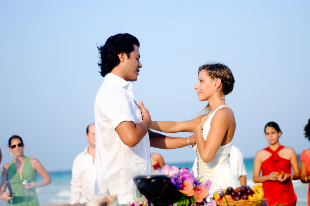 tulum beach mayan ceremony